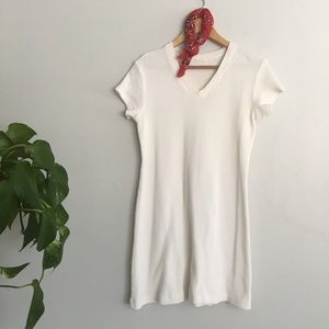 Vintage Waffle/Long John Cotton Mini Dress
